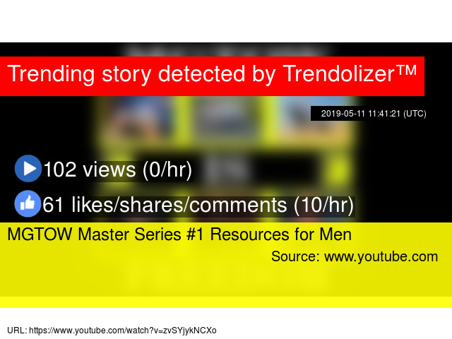 MGTOW Master Series #1 Resources for Men