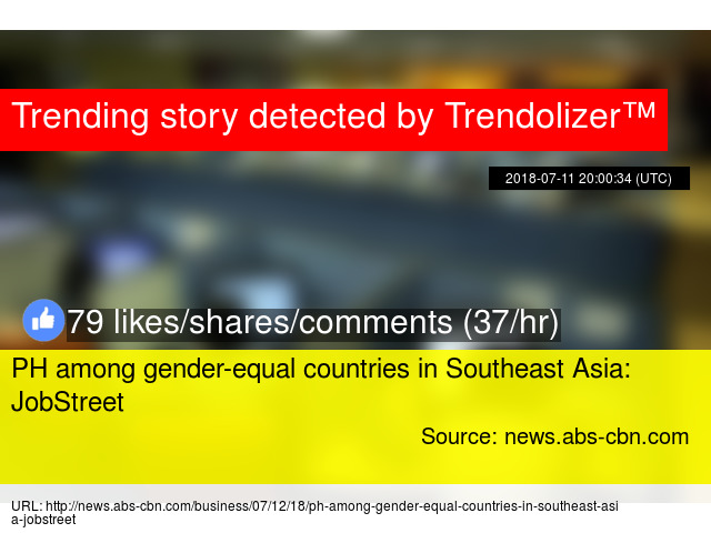PH Among Gender Equal Countries In Southeast Asia JobStreet